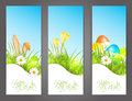 Three banners with easter motive Stock Image