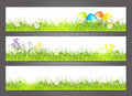 Three banners with easter motive Royalty Free Stock Photography