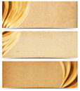 Three Banners with Old Yellowed Paper Royalty Free Stock Photo