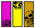 Three banners with skulls Royalty Free Stock Photography