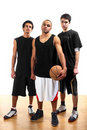 Three basketball players Royalty Free Stock Photo