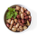 Three Bean Mix in Bowl Isolated Royalty Free Stock Photos