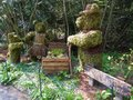 Three bears topiary a based on the children s story goldilocks and the Royalty Free Stock Photos