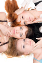 Three beautiful women Stock Images