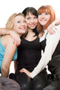 Three beautiful young women Stock Photography