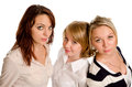 Three beautiful young women Royalty Free Stock Image