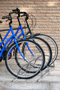Three bicycles Stock Images
