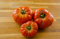 Three big Beefsteak tomatoes Royalty Free Stock Photos