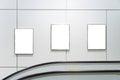 Three big vertical blank billboard Royalty Free Stock Photo