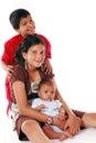 Three Biracial Siblings. Royalty Free Stock Photo