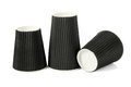 Three Black Paper Cups Royalty Free Stock Photo