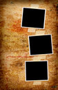 Three blank photos Royalty Free Stock Photo