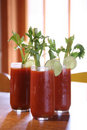 Three Bloody Mary Cocktail Drinks Royalty Free Stock Photo