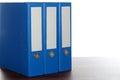 Three blue file folders Royalty Free Stock Photo