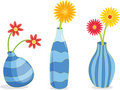 Three Blue Vases Stock Image