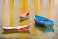 Three Boats in Harbor Royalty Free Stock Photo