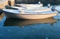 Three boats near pear Royalty Free Stock Photo