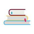 Three books Royalty Free Stock Photo