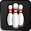 Three bowling pins Stock Photos