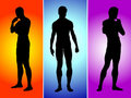 Three boys silhouette Royalty Free Stock Photo