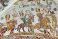 Three brave kings on horses meet the death