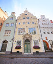 Three brothers oldest buildings in riga latvia the Royalty Free Stock Image