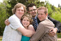 Three Brothers and a Sister Stock Photography