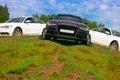 Three Cars On Nature