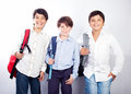 Three cheerful teenagers Stock Photography
