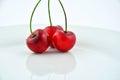 Three cherries Royalty Free Stock Photo