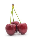 Three cherries. Royalty Free Stock Photo