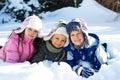 Tres en nieve