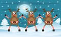 Three Christmas deer Royalty Free Stock Photo