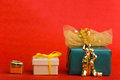 Three christmas gifts Royalty Free Stock Image