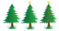 Three Christmas trees Stock Photography