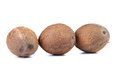 Three coconuts isolated on a white background see my other works in portfolio Stock Images