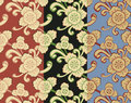Three color flower background Royalty Free Stock Photos