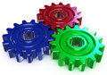 Three color gear Royalty Free Stock Images
