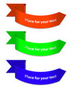 Three colore rounded ribbons Stock Photo