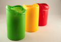 Three colored candles Royalty Free Stock Photo