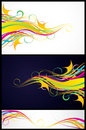 Three colorful backgrounds Royalty Free Stock Photos