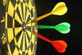 Three colorful darts. Stock Photo