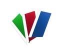 Three colorful folders Royalty Free Stock Photo