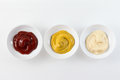 Three Condiment Bowls Stock Photography