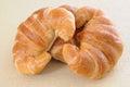 Three croissants Royalty Free Stock Photo
