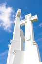 Three cross in vilnius lithuania small architecture detail white Stock Photography