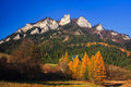 Three crowns in pieniny view to peak national park slovakia poland Royalty Free Stock Images