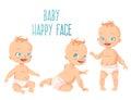 Three cute babies set