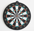 Three darts in dartboard Stock Photos
