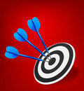 Three darts hitting a target Royalty Free Stock Photo